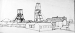 line drawing south shields whitburn colliery 1986 sheila graber