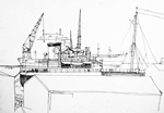 line drawing south shields shell tanker 1986