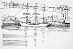 line drawing south shields christian raddich 1986 sheila graber