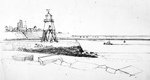 line drawing south shields groyne 1986 sheila graber